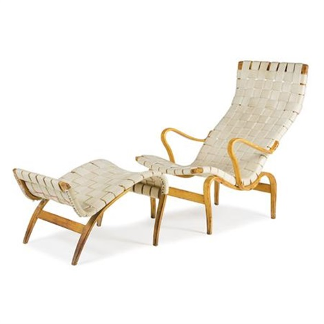 Pernilla Easy Chair (+ Footstool; Set Of 2) By Bruno Mathsson