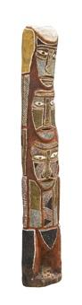 tiwi ancestral totem pole by declan apuatimi