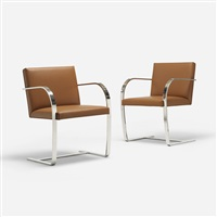 brno chairs (pair) by ludwig mies van der rohe