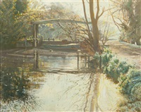 lock at flatford mill by margaret glass