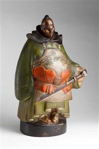 figur trufaldino (painted by ernst stern) by rudolf belling