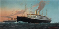 the s.s. kaiserin auguste victoria by fred pansing
