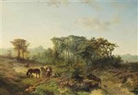 travellers resting in a summer landscape by paul joseph constantin gabriël