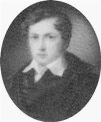 brustbild eines jungen biedermeierherrn im schwarzen mantel mit weißem kragen by johan wilhelm carl way