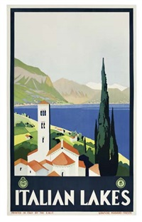 italian lakes by posters: tourism