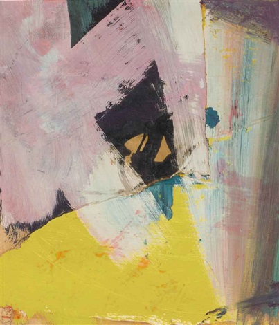 black angle with yellow by franz kline