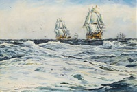 nelson's fleet in the mediterranean sea by roland langmaid