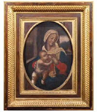 madonna con bambino by ambrogio da (il bergognone) fossano