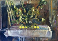 still life and lemons by ofer lellouche