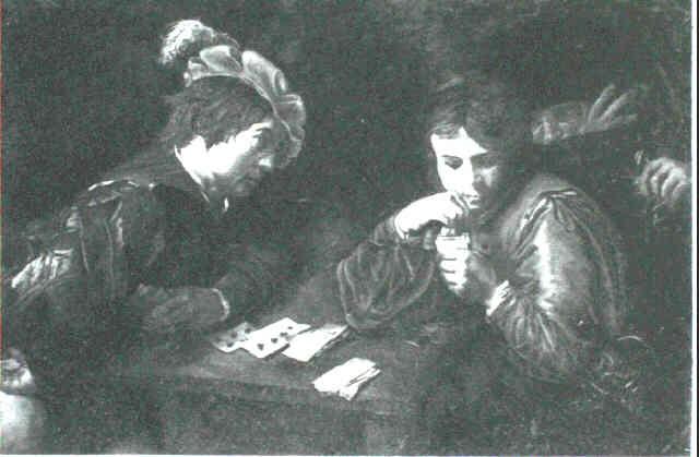 the cardsharps by jean valentin de boulogne