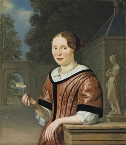 portrait of a lady by pieter cornelisz van slingeland