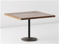rare table, designed for the institute of indology, ahmedabad by b. doshi and le corbusier