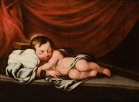 jesús dormido sobre la cruz by bartolomé esteban murillo