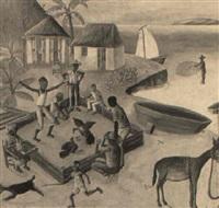 combat de coqs by wilson bigaud