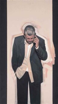 self-portrait with phone by stephen conroy
