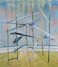sword rack by dana schutz