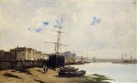 vue de port by alfred godchaux