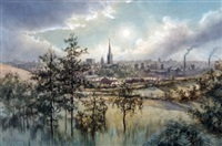 norwich from mousehold by stephen john batchelder