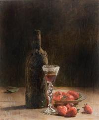 garrafa com morangos by pedro alexandrino