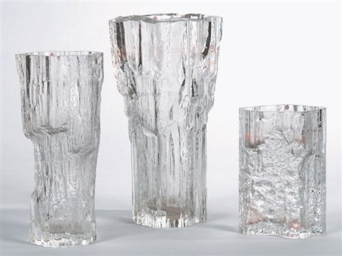 ensemble de trois vases set of 3 by tapio wirkkala
