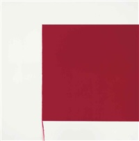exposed painting cadmium red deep by callum innes
