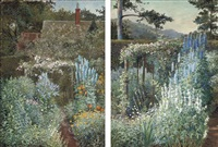 the garden at pwllypant (+ another; 2 works) by julian s. corbett