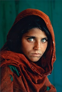 afghan girl, pakistan (sharbat gula) by steve mccurry
