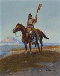 native americans on horseback by w. steve seltzer