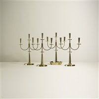 collection of four candelabrum (set of 4) by tommi parzinger
