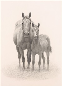mare and colt by wayne baize