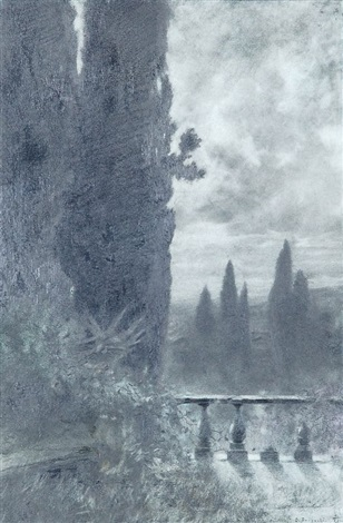 blick von der terrasse der villa deste in tivoli bei rom by othmar brioschi