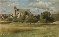 vue d'un village by douglas volk