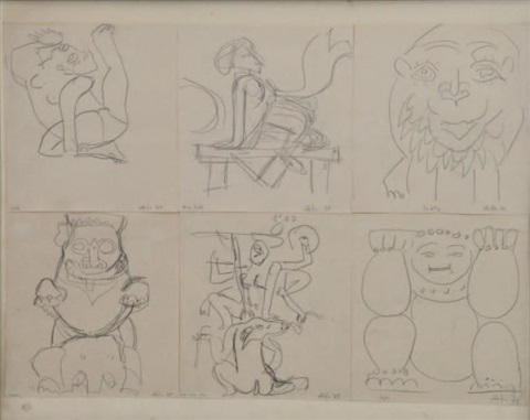 indes 6 sketches in 1 frame by atila
