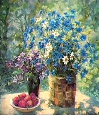 corbeille de bouquet champetre by guennadi petrigine-rodionov
