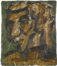 head of george thompson no. i by leon kossoff