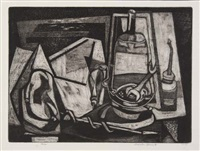 still life with tools by charles f. quest