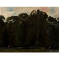 l'allée des ornes au parc de saint-cloud by paul huet