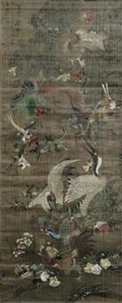 百灵献瑞 by jiang tingxi