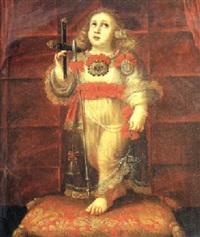 el niño jesús con los símbolos de la pasión by portuguese school (17)