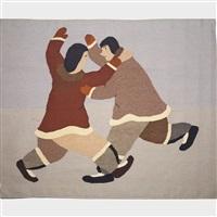 two men wrestling by ida karpik