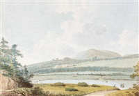 the minto hills from teviot valley, scotland by george bulteel fisher