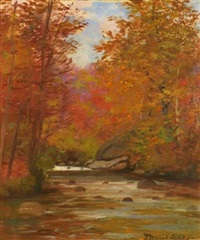 trout stream in autumn (+ 2 others; 3 works) by daniel santry
