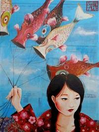 les cerfs-volants japonais by sophie adde