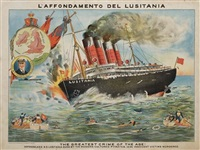 l'affondamento del lusitania, the greatest crime of the age! by posters: world war i & ii