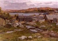 village de pecheurs by aleksandr andreievich gusarevich