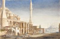 la mosquée sainte sophie by leon jean-baptiste sabatier