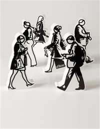 walking in the city (set of 6) by julian opie