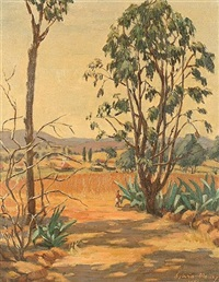 landscape with cacti by sylvia clark molloy
