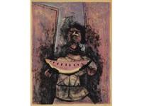 mujer con sandía by rufino tamayo