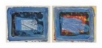 two plates, from: two's company by howard hodgkin